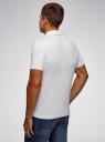 Поло из хлопка с вышивкой oodji для мужчины (белый), 5L412002I/46737N/1045P