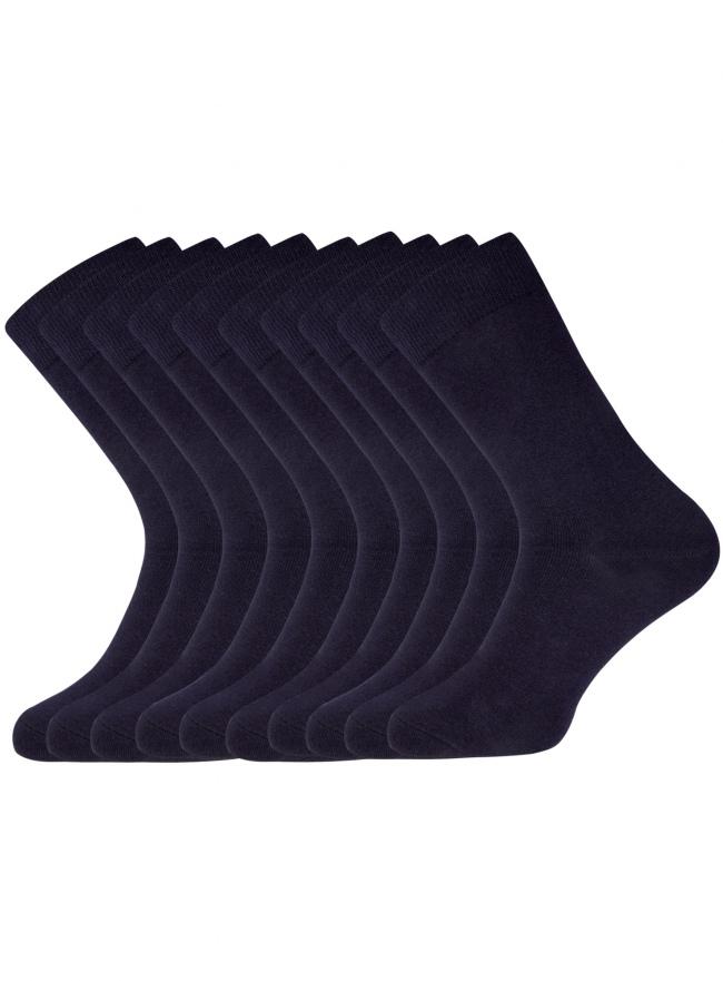 Комплект высоких носков (10 пар) oodji для мужчины (синий), 7B203001T10/47469/7900N