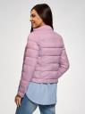Куртка стеганая с воротником-стойкой oodji #SECTION_NAME# (фиолетовый), 10203038-5B/47020/8000N - вид 3