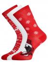 Комплект из трех пар хлопковых носков oodji для женщины (разноцветный), 57102902-4T3/10231/10 - вид 2
