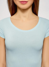 Комплект футболок с вырезом-капелькой на спине (3 штуки) oodji #SECTION_NAME# (синий), 14701026T3/46147/7000N - вид 4