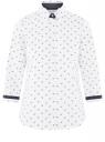 Блузка хлопковая с рукавом 3/4 oodji для женщины (белый), 13K03005-2B/26357/1079O