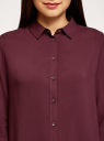 Блузка базовая из вискозы oodji для женщины (красный), 11411136B/26346/4900N