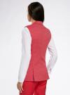 Жилет классический из фактурной ткани oodji для женщины (красный), 12300099-6/46373/4533D - вид 3