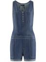 Комбинезон из лиоцелла с карманами oodji для женщины (синий), 13109062/42579/7900W