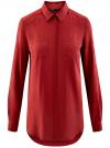 Блузка базовая из вискозы oodji #SECTION_NAME# (красный), 11400355-3/26346/3100N