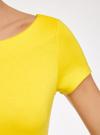 Платье трикотажное с вырезом-лодочкой oodji #SECTION_NAME# (желтый), 14001117-2B/16564/5100N - вид 5