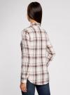 Рубашка в клетку с нагрудными карманами oodji #SECTION_NAME# (белый), 11411052-2/45624/7912C - вид 3