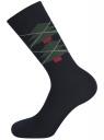 Комплект из трех пар носков oodji #SECTION_NAME# (синий), 7O233003T3/47469/7919J