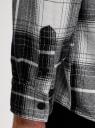 Рубашка хлопковая с капюшоном oodji для мужчины (черный), 3L320019M/47334N/2910C