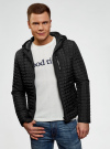 Куртка стеганая с капюшоном oodji #SECTION_NAME# (черный), 1B112007M/46376N/2900N - вид 2