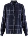 Блузка вискозная прямого силуэта oodji #SECTION_NAME# (синий), 11411098-3/24681/7912C