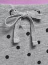 Брюки трикотажные на завязках oodji для женщины (серый), 16701042/46919/2329D