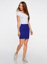 Комплект трикотажных юбок (2 штуки) oodji для женщины (синий), 14101001T2/46159/7500N