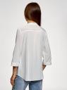 Блузка вискозная с нагрудными карманами oodji #SECTION_NAME# (белый), 11403225-7B/42540/1200N - вид 3