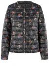 Куртка стеганая с круглым вырезом oodji #SECTION_NAME# (черный), 10204040-1B/42257/2919F