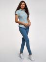 Рубашка хлопковая с коротким рукавом oodji #SECTION_NAME# (синий), 13K01004-1B/14885/6575O - вид 6