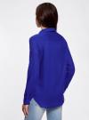 Рубашка хлопковая свободного силуэта oodji #SECTION_NAME# (синий), 11411101B/45561/7500N - вид 3