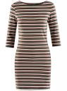 Платье трикотажное базовое oodji #SECTION_NAME# (зеленый), 14001071-2B/46148/6855S