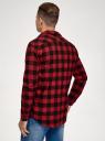 Рубашка хлопковая с длинным рукавом oodji #SECTION_NAME# (красный), 3L320016M/39882N/4529C - вид 3