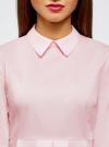 Блузка хлопковая с баской oodji #SECTION_NAME# (розовый), 13K00001-1B/42083/4000N - вид 4