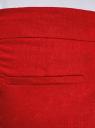 Брюки льняные укороченные oodji для женщины (красный), 21701092B/16009/4500N