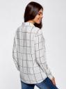 Блузка вискозная прямого силуэта oodji #SECTION_NAME# (белый), 11411098-3/24681/1229C - вид 3