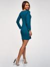 Платье базовое облегающего силуэта oodji #SECTION_NAME# (зеленый), 14011038B/38261/6C00N - вид 3