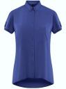 Блузка из вискозы с нагрудными карманами oodji #SECTION_NAME# (синий), 11400391-4B/24681/7500N