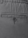 Брюки хлопковые на завязках oodji для мужчины (серый), 2L100083M/48168N/2300N