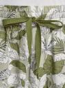 Шорты из вискозы с завязками на поясе oodji для женщины (зеленый), 13H00001/42540/6212O