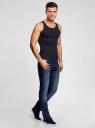 Майка базовая прямого силуэта oodji для мужчины (синий), 5B710002M/44260N/7900N