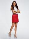 Юбка хлопковая с ремнем oodji #SECTION_NAME# (красный), 11600397-2B/32887/4501N - вид 6