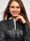 Куртка стеганая с круглым вырезом oodji для женщины (черный), 10203050-2B/47020/2900N - вид 4