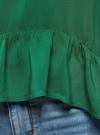 Блузка вискозная с воланами oodji #SECTION_NAME# (зеленый), 11405136/46436/6E00N - вид 5