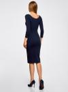 Платье с вырезом-лодочкой (комплект из 2 штук) oodji #SECTION_NAME# (синий), 14017001T2/47420/7900N - вид 3