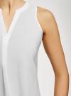 Топ базовый из вискозы oodji для женщины (белый), 14911008-1B/48756/1200N - вид 5