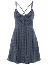 Платье вискозное на тонких бретелях oodji #SECTION_NAME# (синий), 11900231-1/49181/7912O