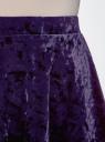 Юбка бархатная с мягкими складками oodji для женщины (фиолетовый), 14102007/47508/8800N