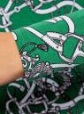 Платье трикотажное облегающего силуэта oodji #SECTION_NAME# (зеленый), 14000171/46148/6223O - вид 5