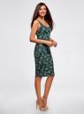 Платье-майка трикотажное oodji #SECTION_NAME# (зеленый), 14015007-3B/37809/6912E - вид 6