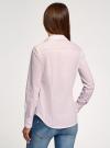 Блузка приталенная в горошек oodji #SECTION_NAME# (розовый), 11403227/46079/1040G - вид 3