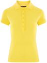 Поло базовое из ткани пике oodji для женщины (желтый), 19301001-1B/46161/5100N