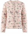 Куртка стеганая с круглым вырезом oodji для женщины (слоновая кость), 10204040-1B/42257/3041U