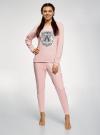 Пижама хлопковая с брюками oodji #SECTION_NAME# (розовый), 56002224/46154/4023P - вид 2
