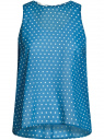 Блузка шифоновая без рукавов oodji #SECTION_NAME# (синий), 11411160/38375/7410D