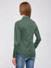 Рубашка базовая с нагрудными карманами oodji #SECTION_NAME# (зеленый), 11403222B/42468/6910G - вид 3