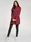 Платье-рубашка с карманами oodji #SECTION_NAME# (красный), 11911004-2/45252/4529C - вид 6