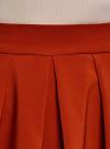 Юбка расклешенная со встречными складками  oodji #SECTION_NAME# (красный), 11600396-1/43102/3100N - вид 4