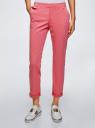 Брюки-чиносы хлопковые oodji для женщины (розовый), 11706204/46777/4100N